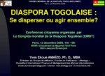 Diaporama du CONGRES MONDIAL DE LA DIASPORA (CMDT)